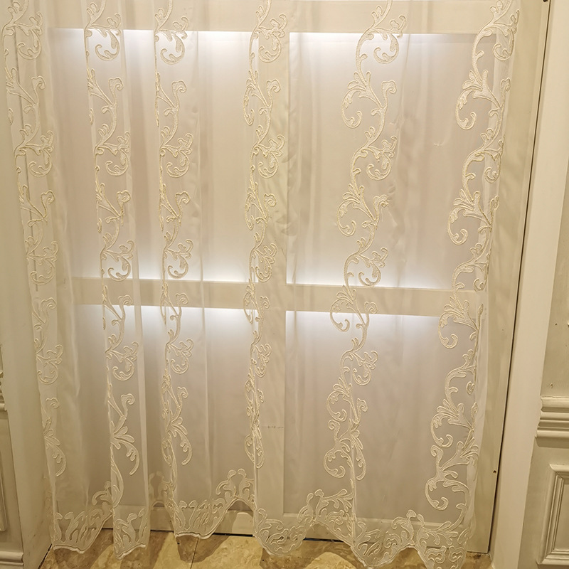 Luxury Yarn Embroidered 3D Screens Princess Tulle Curtains for Bedroom Romantic Sheer Children's Room Window Decoration 323#4|Curtains| |  - title=