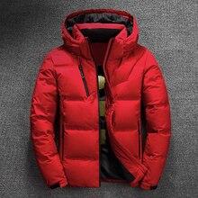 2020 kış ceket erkek kaliteli termal kalın ceket kar kırmızı siyah Parka erkek sıcak dış giyim moda beyaz ördek aşağı ceket erkekler