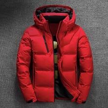 Casaco de inverno masculino de 2020, grosso, térmico, vermelho, preto, parka, quente, jaqueta jaqueta masculina