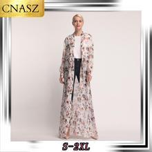 Muslim Abaya Dubai Fashion Digital Printing Chiffon Cardigan Korean Version Islamic Clothing Of Loose Casual Women's Dress