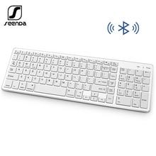 SeenDa Bluetooth Tastatur Wiederaufladbare Tragbare Drahtlose Tastatur mit Anzahl Pad Voller Größe Design für Laptop Desktop PC Tablet