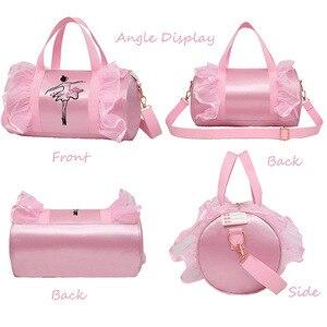 Image 2 - Ballet Dance Bags Pink  Girls Sports Dance Kids Backpack Baby Barrels Package Bag Costume Clothes Shoes Dress  Handbag