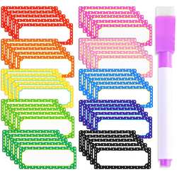 10 цветов, всего 50 с 1 ручкой (цвет крышки ручки случайный) 8*3 см перезаписываемая доска для сообщений магнитные наклейки на холодильник