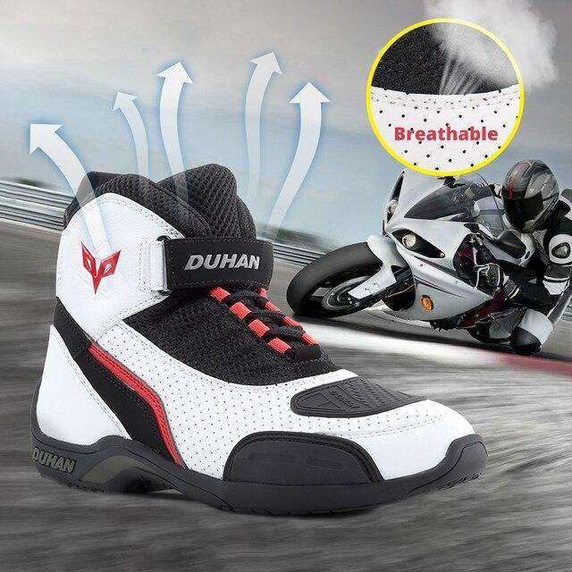 DUHAN мотоботы для мужчин мото гонок, для мотокросса, сапоги внедорожные мотоциклы мотоциклетная обувь Водонепроницаемый сапоги с крышкой багажника 2