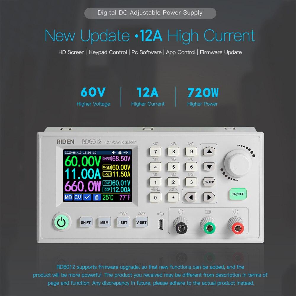 Voltmètre à Module dalimentation, Module dalimentation étagé, convertisseur de tension, USB wi-fi DC-DC, RD RD6012 RD6012W, VS RIDEN RD6006