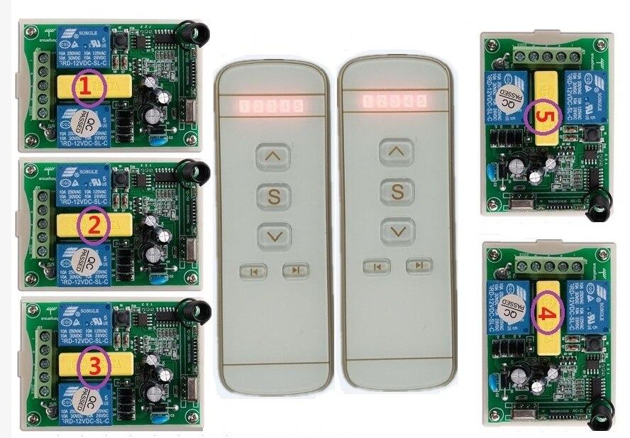 220 В мотор гаражных ворот/проекционный экран/жалюзи ac220в цифровой дисплей Интеллектуальный радиочастотный беспроводной пульт дистанционного управления|Пульты ДУ|   | АлиЭкспресс