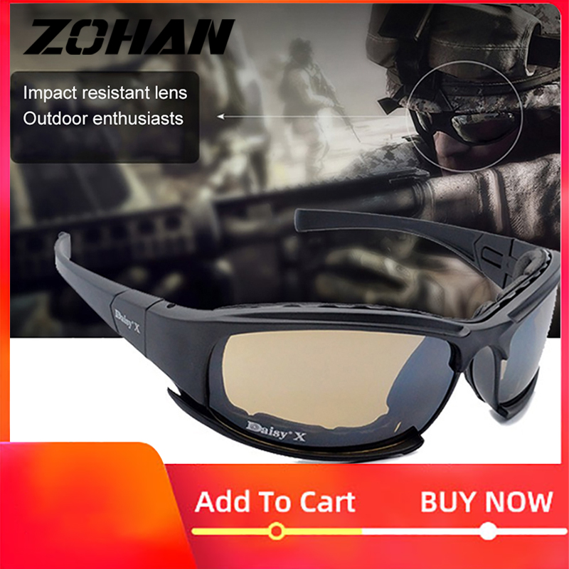 Military Goggles Bullet-proof Army Polarized Sunglasses 4 Lens Hunting Shooting Airsoft Eyewear Outdoor Sport UV Protection title=