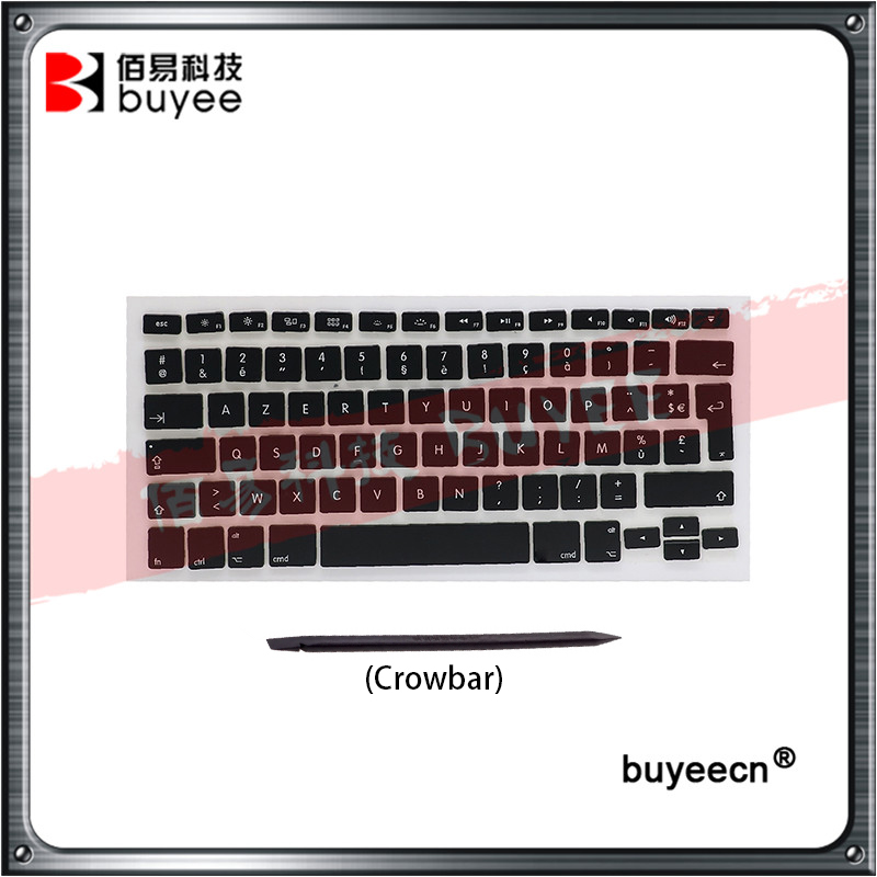 Original Laptop A1278 Keycaps For Apple Macbook Pro AP02 AP04 Layout Keyboard Key Caps French Language