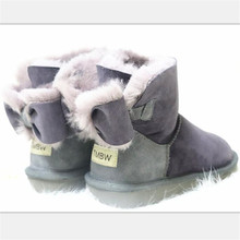 Wool Shoes Snow-Boots Women Sheepskin Classic Female Winter Fur Real-Fur Genuine