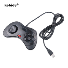 Kebidu nowy przewodowy Gamepad USB klasyczny kontroler go gier Gamepad Joypad na PC dla Sega