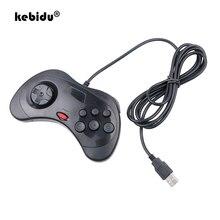 Kebidu yeni kablolu Gamepad USB klasik oyun denetleyicisi Gamepad Joypad PC Sega