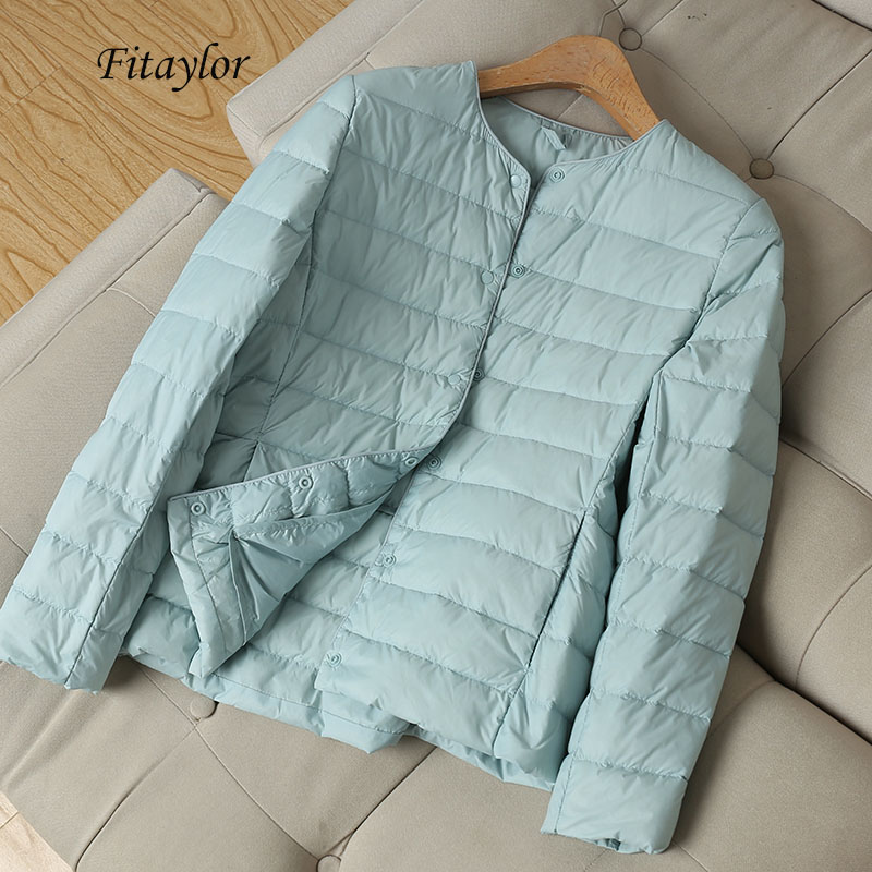 Fitaylor 2020 New Winter Women Ultra Light White Duck   Down   Jacket Short   Coats   Plus Size S-3xl Warm Female   Down   Jacket Outerwear