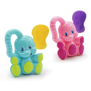 Image 2 - 1pc Elephant Deer Baby Rattles Kids Educational Toys for Children Newborns Mobile Boys Girls Crib Stroller Stuffs Safety Plastic
