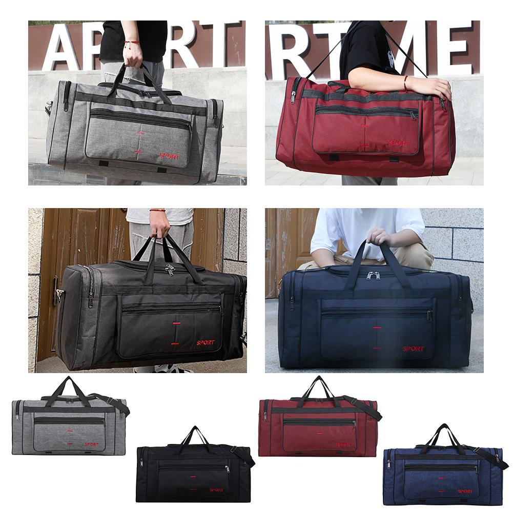 Travel Duffel Bag Carry on Luggage Bag Men Tote Large Capacity Weekender Gym Sport Holdall Overnight Bag   Gym Bag Outdoor Men's