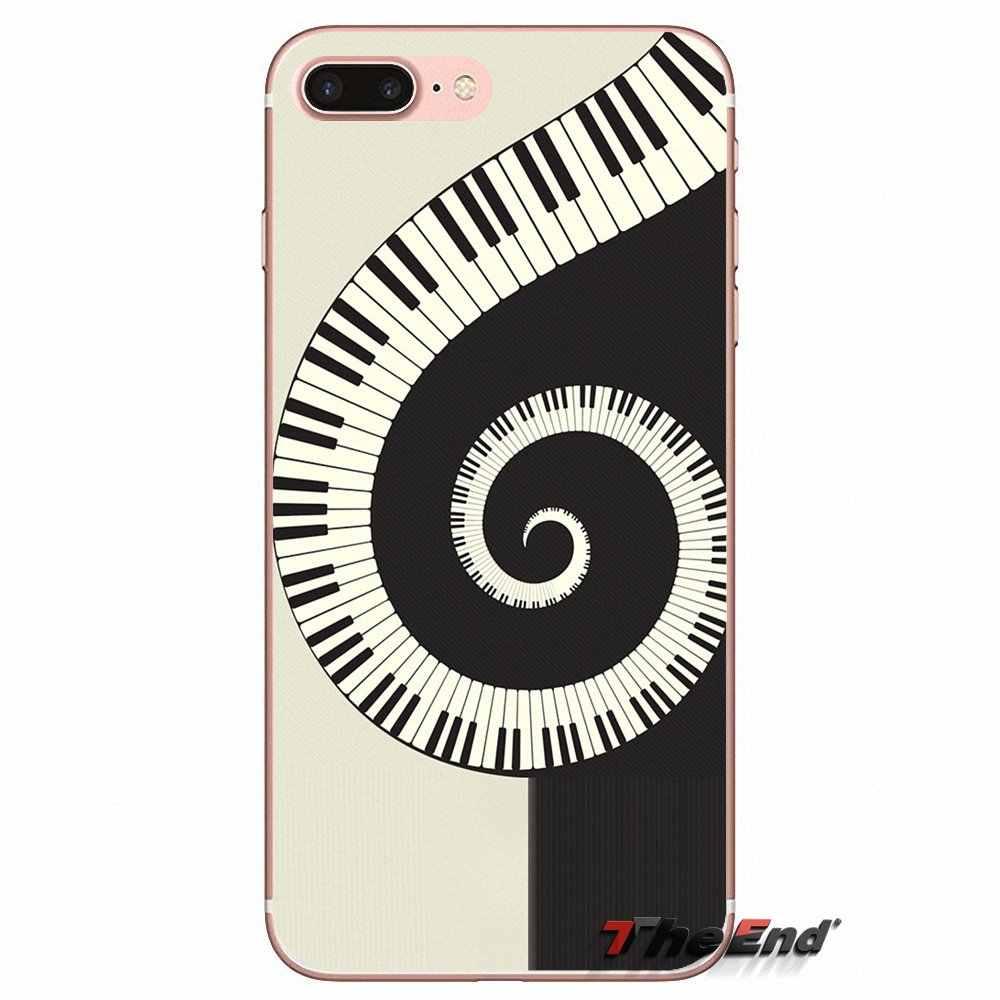 Pour Huawei P Smart Y6 Pro P8 P9 P10 Nova P20 Lite Pro Mini 2017 SLA-L02 SLA-L22 2i piano guitare musique peinture Silicone TPU étui