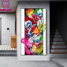 5D алмазная живопись, мультяшный клоун, полная квадратная круглая мозаика, вышивка крестиком, ручная работа, «сделай сам», вышивка, подарок, д...