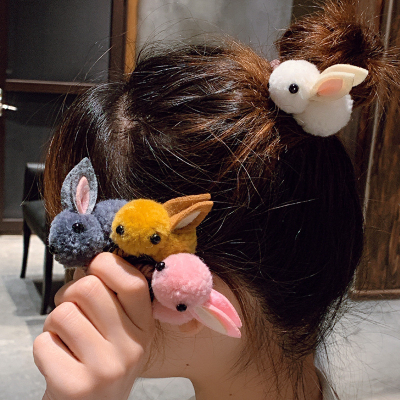 Children Pompom Hair Ties Girls Elastic Hairs Band Rubber Hair Accessories Gum Rope Cute Scrunchies Ponytail Holder Korean