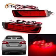 2 шт. для Nissan Juke/Мурано/Infiniti FX35/FX37/FX50 светодиодный задний бампер отражатель красный объектив задний стоп-сигнал светильник задний фонарь све...