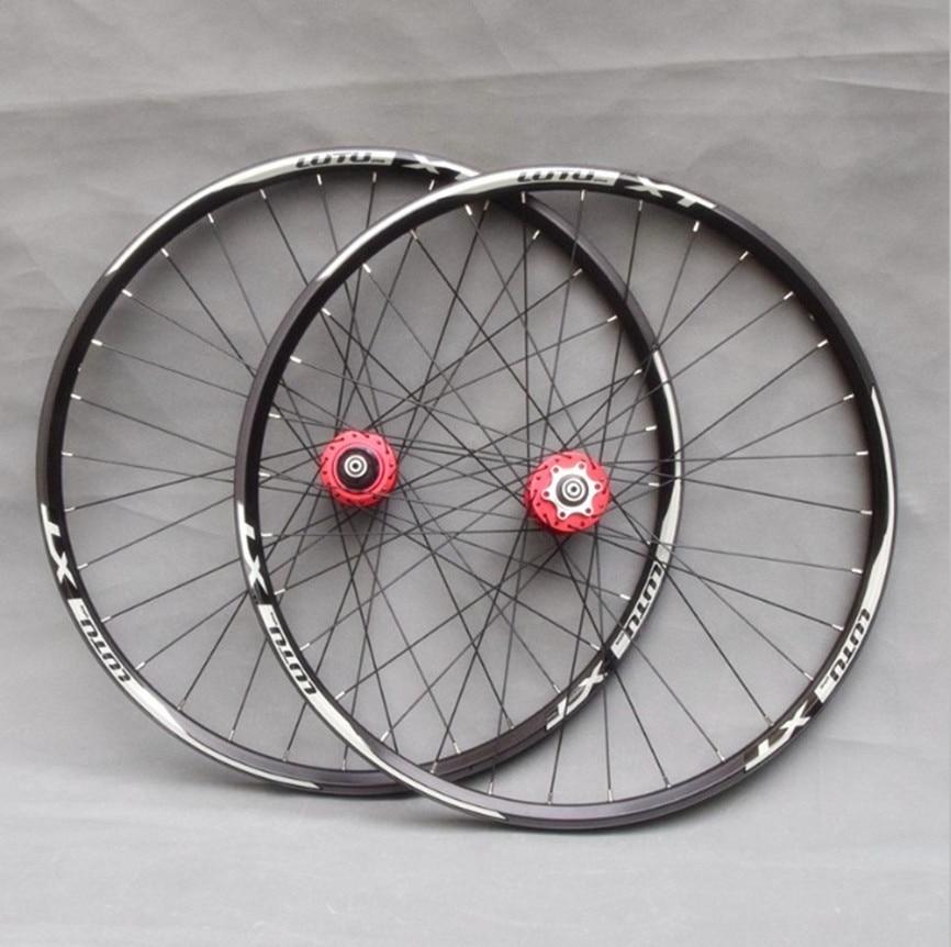 MTB Mountain Bike Aluminum Alloy Wheels 24/26/27.5/29inch Sealed Bearing Disc Brake Wheelset Double Rim Wheel Set 32H