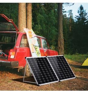 Image 5 - Dokio 200w (2 pces x 100w) painel solar dobrável china + 10a 12v/24v controlador dobrável painel solar pilha/sistema carregador painel solar
