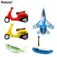 Reboto-memoria USB 2,0 de 4GB, 8GB, 16GB, 32GB, 64GB, con dibujos animados de SUV, avión, barco, motocicleta