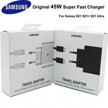 Samsung original 45w USB C carregador rápido super adaptativo para samsung galaxy note 10 plus note10plus 5g a91 note10 +