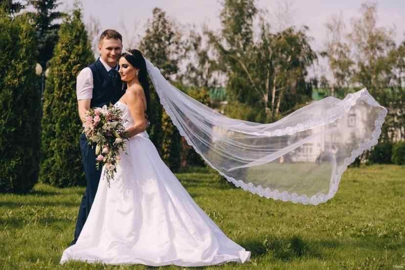 Frauen Hochzeit Schleier Mit Kamm Lange 3M Spitze Rand Braut Kathedrale Braut Schleier 1 Schicht Patry Zubehör 2020