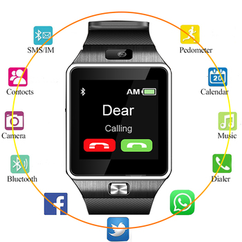 NEW DZ09 Touch Screen Smartwatch Bracelet Smart Watch Women Multifunction Bluetooth Camera Music Calling smart watch men relogio smart watch dz09 white