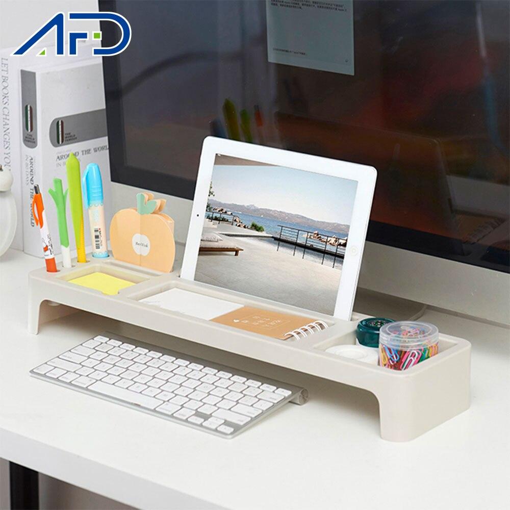 US $46.46 46% OFFSpace Saving Office Table Storage Rack Multifunctional  Desk Organizer Stationery Desktop Cellphone Computer Tablet Phone  HolderHome