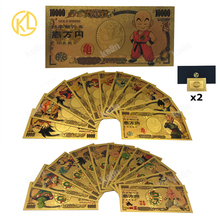 Gold Banknote Memory-Collection Dragon Japan Plastic Cartoon for Classic Childhood And