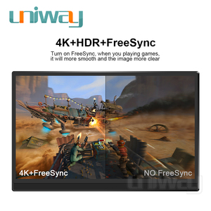 Image 4 - Uniway 4k hdr portable monitor touch screen 15.6 hdmi type c for laptop computer phone xbox switch ps3 ps4 gaming monitor