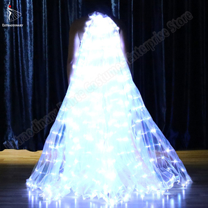 Image 5 - Neue Frauen Bauchtanz Isis Flügel Led Dance Schmetterling Flügel Licht Up Lampe Requisiten Weiß Stafe Leistung 360 Grad Sticks