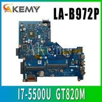 LA B972P motherboard for HP 15 R LA B972P Laptop Motherboard 795814 001 795814 501 I7 5500U CPU original tested 100%