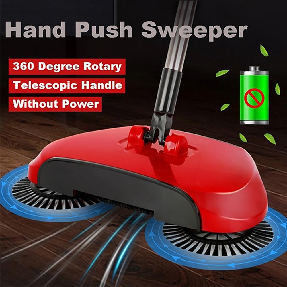Household Automatic Hand Push Sweeper 360 Degree Rotate Floor Cleaning Broom Home smart automatic lazy broom home cleaning tools