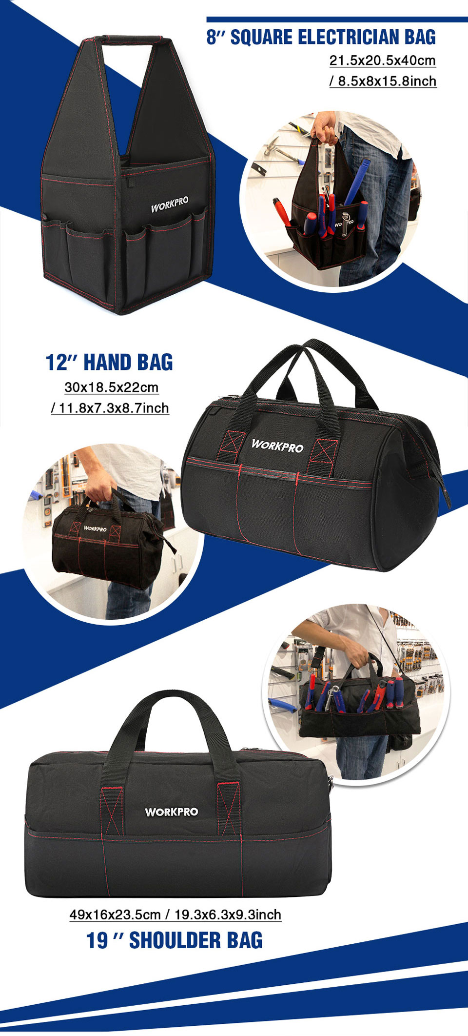 Workpro Different bags