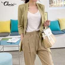 Blazer Female Women Plus-Size Coats Office-Suit Elegant Casual Korean Fashion Solid 5XL