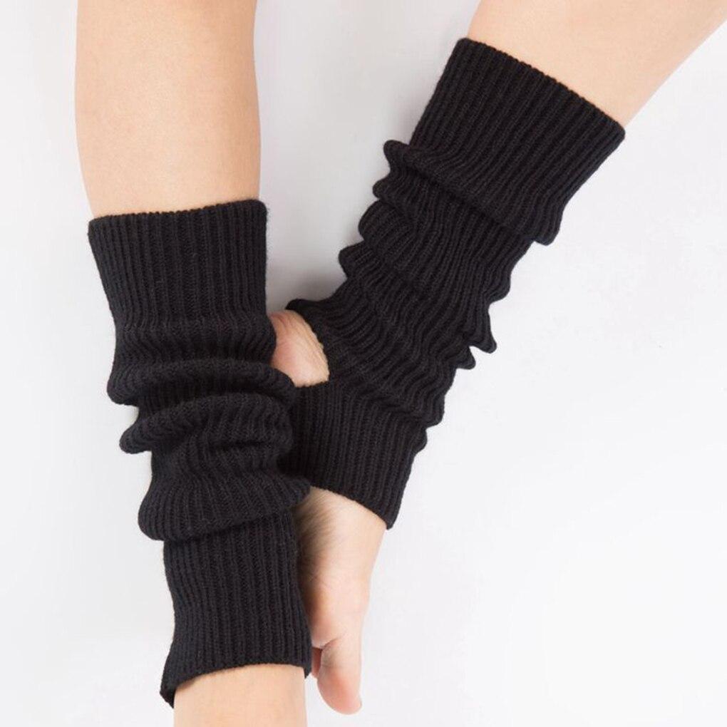 1 Pair Fashion Woman Latin Socks Fitness Dancing Female Wear Exercising Long Section Knitting Walking Socks Leg Warmers Woman