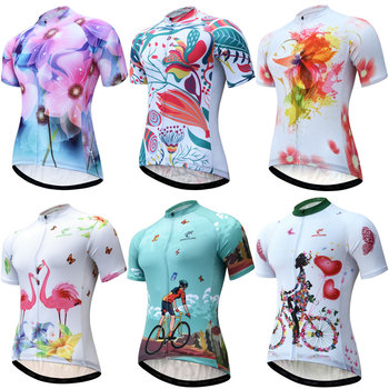 Women Cycling Jersey 2020 Breathable Cycling Clothing New Pro Team Wholesale Short Sleeve MTB Bike Jersey Shirt Maillot Ciclismo weimostar 2019 women cycling jersey short sleeve racing sport mtb bike jersey cycling shirt pro team bicycle clothing maillot