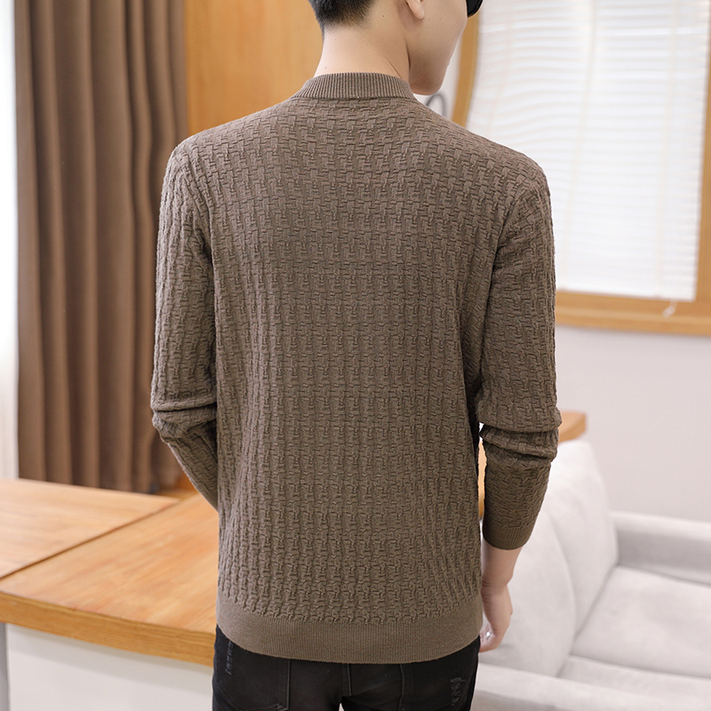 Knitting Cardigan men Coat Solid 2 Color Spring and Autumn Fashion V-Neck Long Sleeve Croche Knit Sweater Coat Tops 2020 NEW