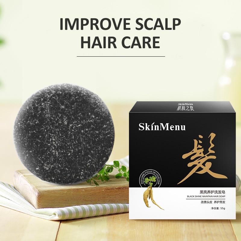 55 г шампунь, мыло, многоцветное многоугольное, усиливает корень волос, против выпадения волос, восстановление роста, против перхоти, масла, к...
