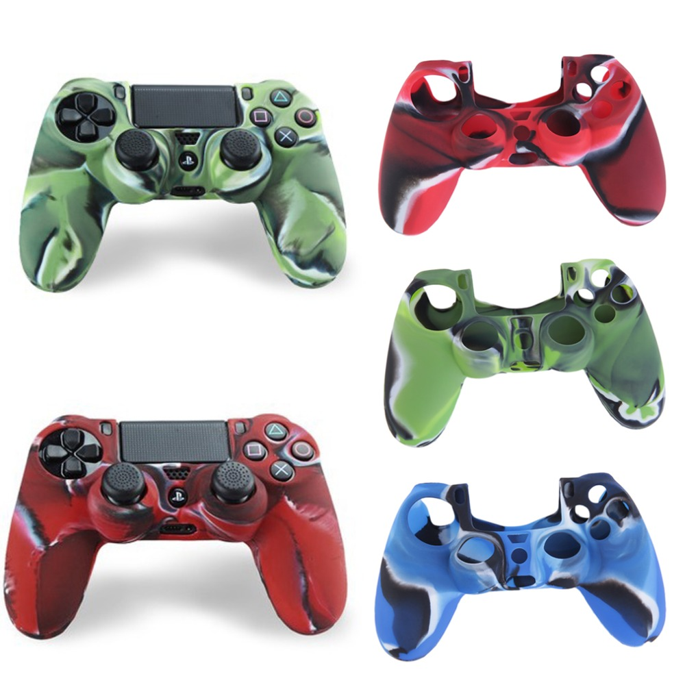 Colorful Camouflage Protective Soft Silicone Case Skin Grip Rubber Cover For Play Station 4 For PS 4 Controller 17cm X 11cm