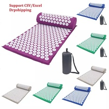 купить Massager Mat Relaxation Acupressure Relieve Back Body Pain Spike Mat Acupuncture Massage Yoga Mat по цене 726.21 рублей
