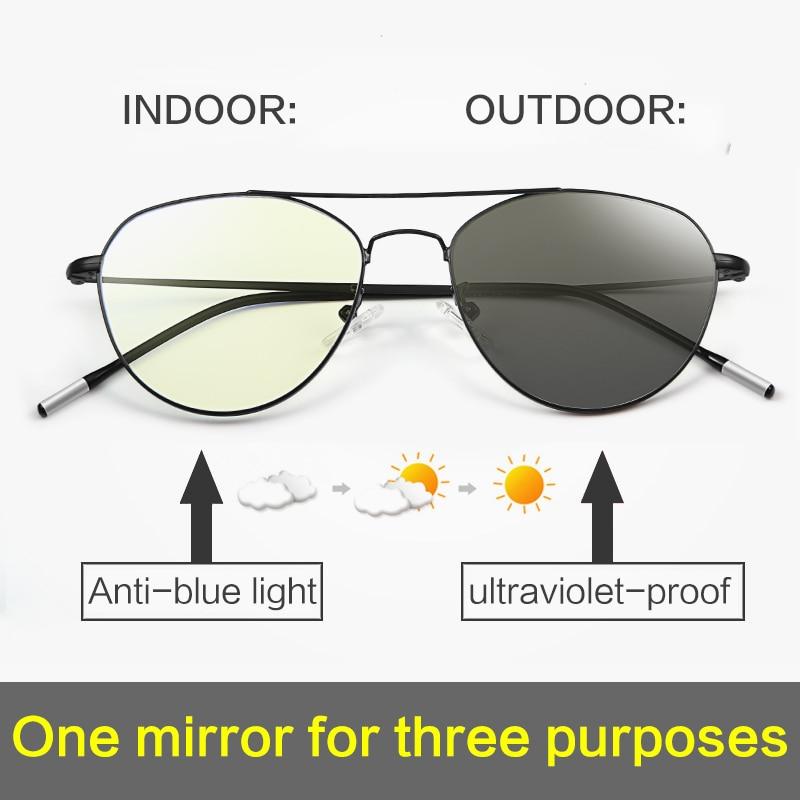 MORAKOT Photochromic Anti Blue Light Block Filter Reduced Digital Eye Strain Clear Regular Computer Game Unisex Glasses BSF17021