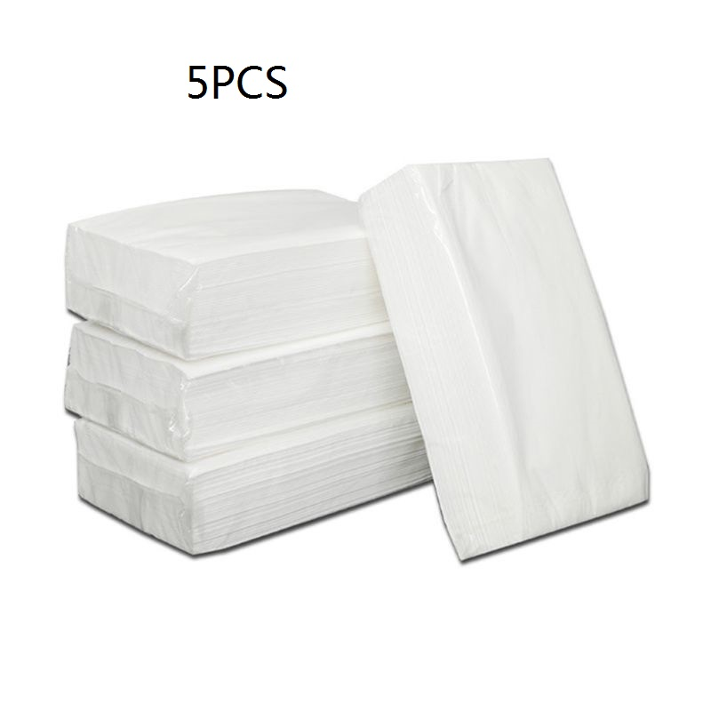 5Bags Silky Smooth Soft Premium 100 Sheets/Bag 3 Layers Toilet Paper Kitchen Toilet Facial Tissues KTV Hotel Special Paper