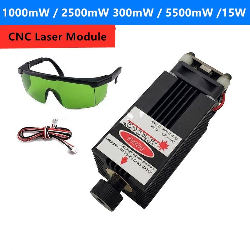 5500mw 2500mw 15000mW Adjustable Blue Laser Module CNC Laser Engraving PWM/TTL Module 3500mw Laser Cutter For CNC3018