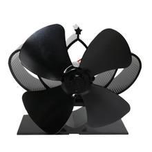 Черный камин 4 лезвия Термальность тепловой мощности пеллетный
