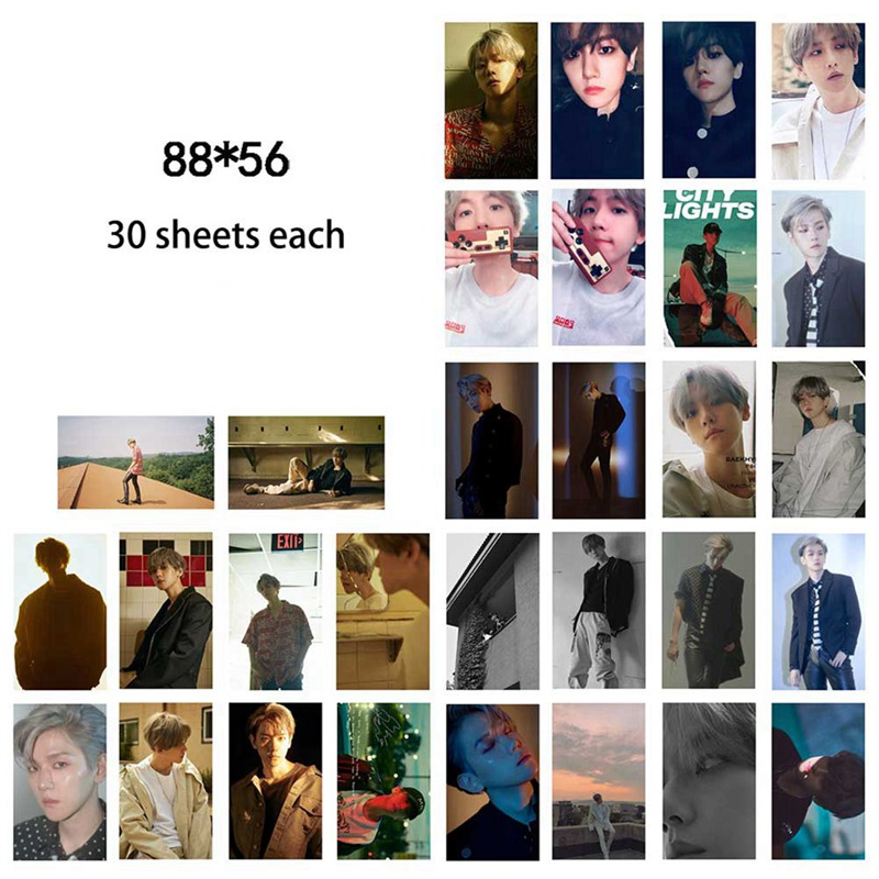 EXO - BAEKHYUN:SOLO  UN Village LOMO Card Gift Box Set 30pcs, KPOP Fans Collection