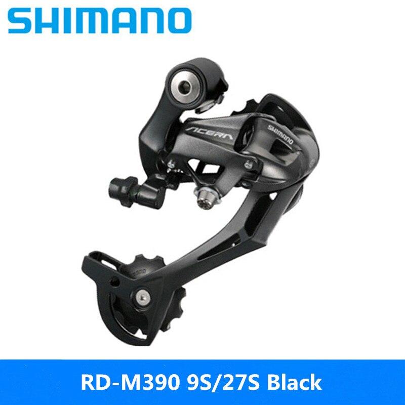 Shimano esfera trasera RD M390 para bicicleta de montaña, esfera de velocidad, negra, 9/27|Desviador de bicicleta| - AliExpress