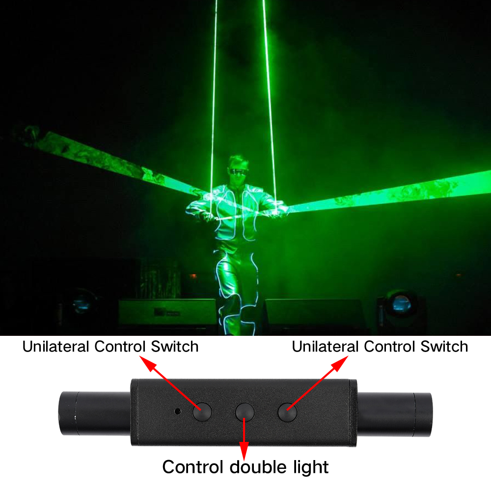 Mini Dual Direction Green Laser Sword For Laser Man Show Double-Headed Wide Beam Laser Double Laser Pen Dancing Dj Show