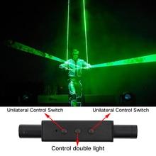 Mini Dual Direction Green Laser Sword For Laser Man Show Double-Headed Wide Beam Laser Double laser pen Dancing Dj Show цена 2017